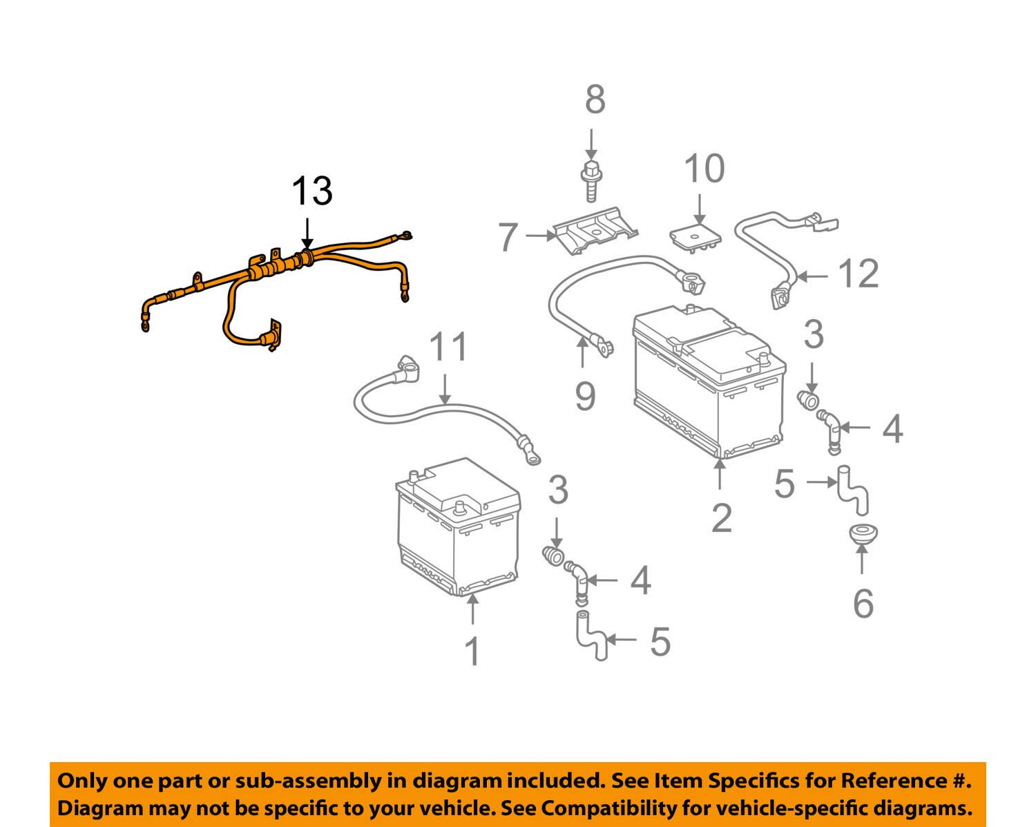 Genuine Mercedes-Benz Cable 221-540-33-35