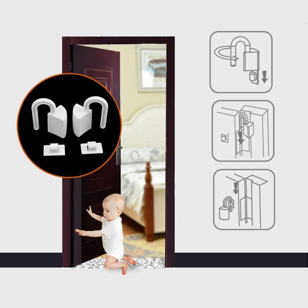 Blanc GCDN 2pcs B/éb/é Enfants Doigt Mains Protection Doigt Protection 2pcs Blanc S/écurit/é B/éb/é Arr/êt Porte Charni/ère Plastique Pincement Protection Doigt Pincement Obturateurs