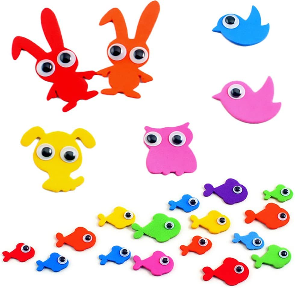 300 Pieces 4mm Wiggly Toy Eyes with Self-adhesive DIY Scrapbooking Crafts Toy Accessories BY DINGJN