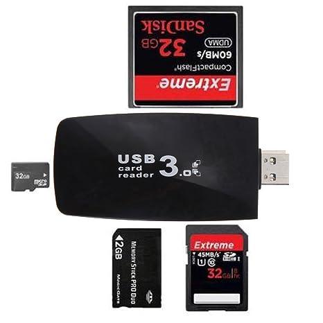 YOOKII Todo en 1 Alta Velocidad Lector de Tarjetas USB 3.0, Lector ...