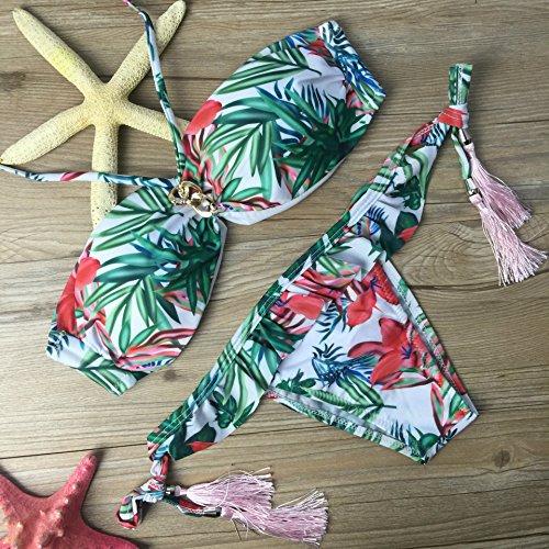 YONGYI Europa y los Estados Unidos de moda mujer playa de verano mujeres europeas y americanas dividido bikini bikini de bambú mujeres traje de baño