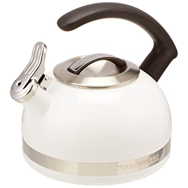 KitchenAid KTEN20CBWH 2.0-Quart Kettle with C Handle and Trim Band - White