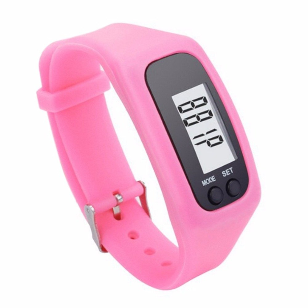 Amazon.com : Embiofuels(TM) Lcd Smart Wrist Watch Bracelet Pedometer Sports Monitor Running Exercising Step Counter Fitness Silicone Wristband[Black] ...
