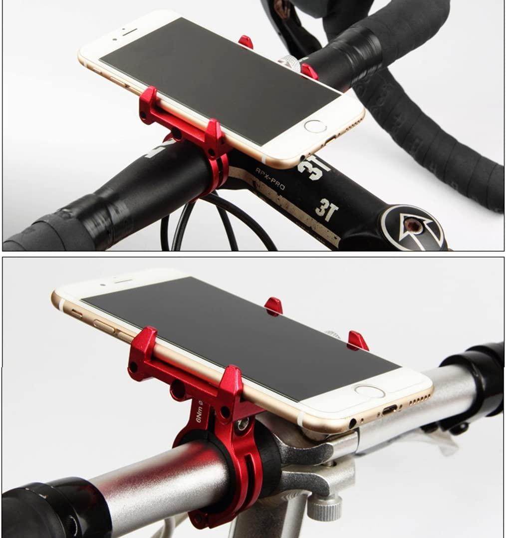 Motorcycle-Compatible with iPhone7//7 Plus,6s//6s Plus,Samsung Galaxy S8 and More Gub iQuicker G85 Universal Anti-Shake Smartphone Mount Aluminum Alloy Phone Holder for Mountain /& Road Bike