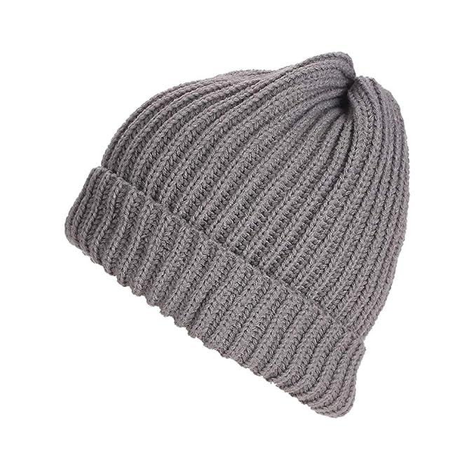 Leoie Knit Beanie for Women Beanie Hats Knitted Winter Hats for Women Girls  Men Women Woolen Cap Outdoor Warm Knitted Cap Simple Cuffed Beanie Hat Fall  ... 3bec3e08fdd