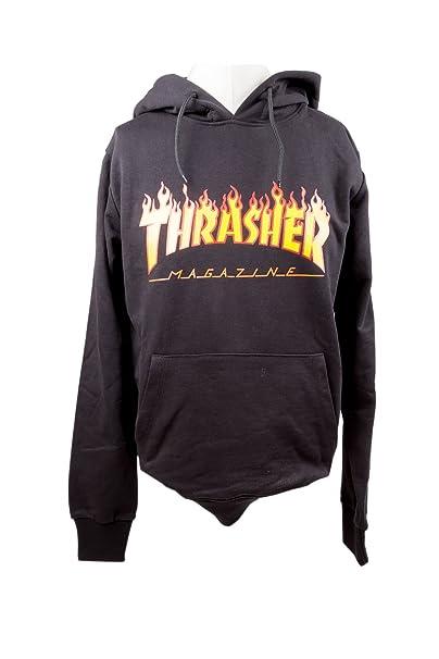 THRASHER - Sudadera con Capucha - para Hombre Negro Medium: Amazon.es: Ropa y accesorios