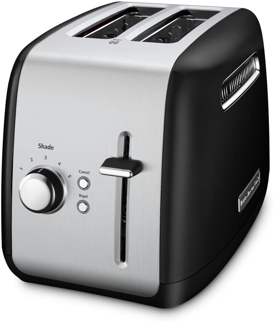 KitchenAid Refurbished 2-Slice Toaster with Manual Lift Lever | Onyx Black