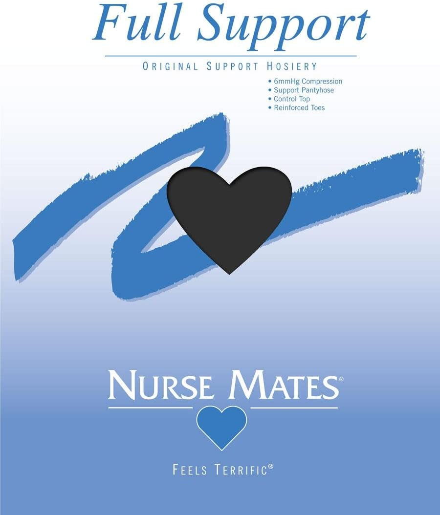 NURSE MATES FULL SUPPORT PANTYHOSE WHITE COLOR ALL SIZES