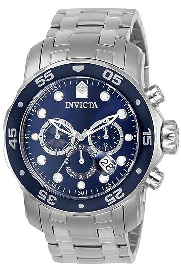 fotos oficiales c8693 79d40 Invicta 0070 Pro Diver - Scuba Reloj para Hombre acero inoxidable Cuarzo  Esfera azul