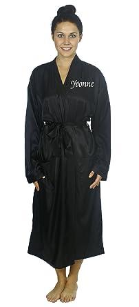 Personalized Custom Unisex Robes Long Satin Kimono Bathrobe Sleepwear 8e394e182