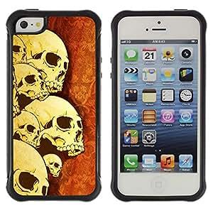 Suave TPU GEL Carcasa Funda Silicona Blando Estuche Caso de protección (para) Apple Iphone 5 / 5S / CECELL Phone case / / Skulls Skeleton Art War Death Anatomy Head /