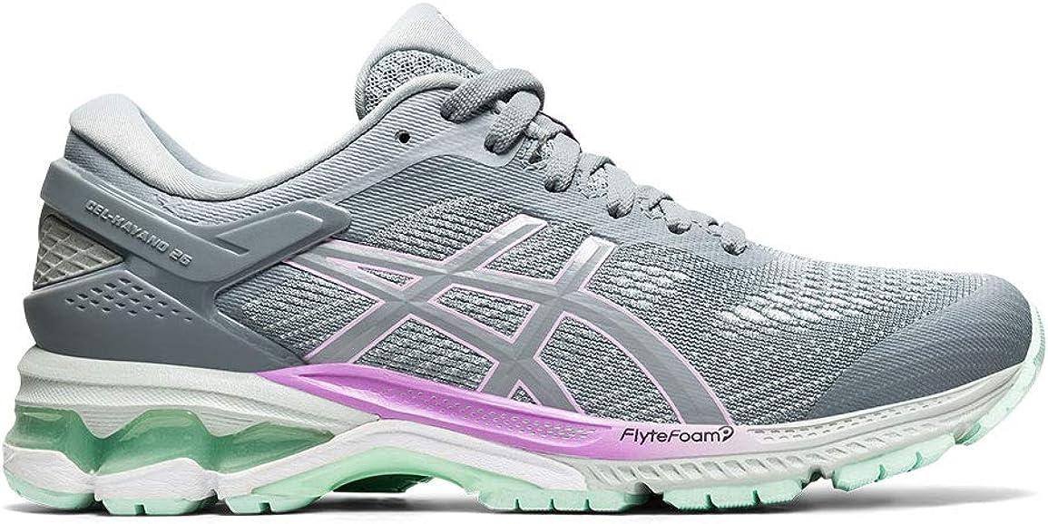 ASICS Gel-Kayano 26 Zapatillas de correr para mujer, Gris (Gris/Verde), 37 EU: Amazon.es: Zapatos y complementos