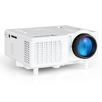 Auna Mini Proyector LED (entradas VGA y AV para conexión TV DVD y ...