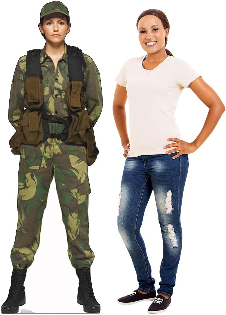 Advanced Graphics Female Soldier Life Size Cardboard Cutout Standup Home Kitchen