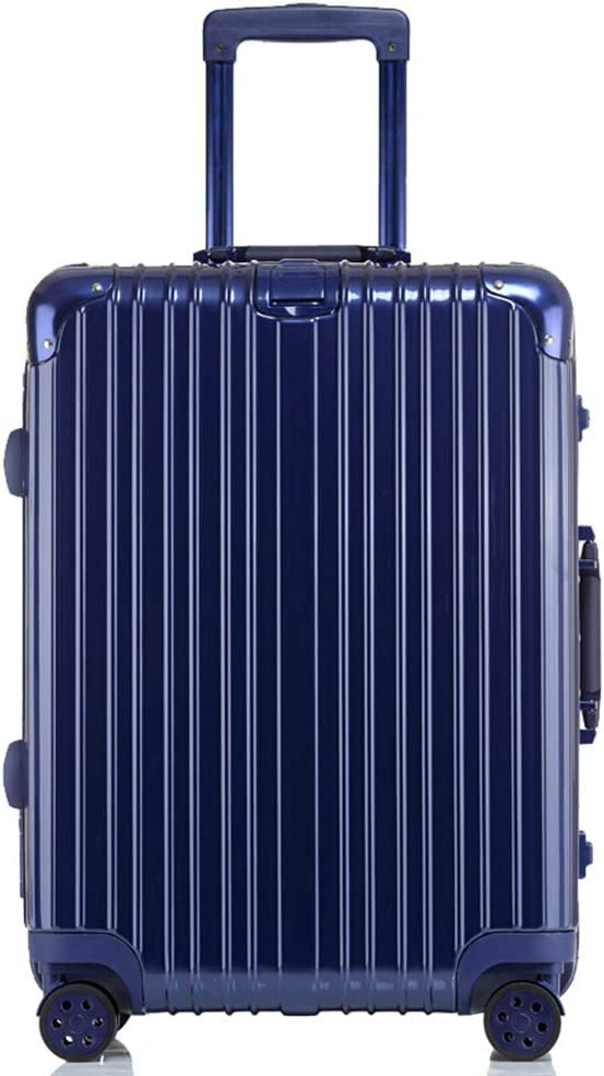 Z/&YY Scratch-Proof Aluminum Frame Trolley case Universal Wheel Suitcase Male and Female Students Suitcase Luggage Code 20//24//26//29 inches Color : Blue-Mirror, Size : 24 inches