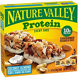Nature Valley Protein Chewy Granola Bars Coconut Almond Gluten Free, 5 Bars