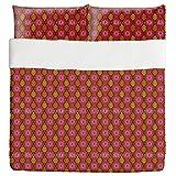 Club Africana Duvet Bed Set 3 Piece Set Duvet Cover - 2 Pillow Shams - Luxury Microfiber, Soft, Breathable