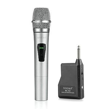 GuDoQi® Professionelles Handheld Mikrofon Mit Vhf Kondensator Mit Wireless Receiver Metall LCD Mic Für Karaoke KTV Konferenz