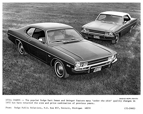 1972 Dodge Dart Demon & Swinger Factory Photo Demon Dart