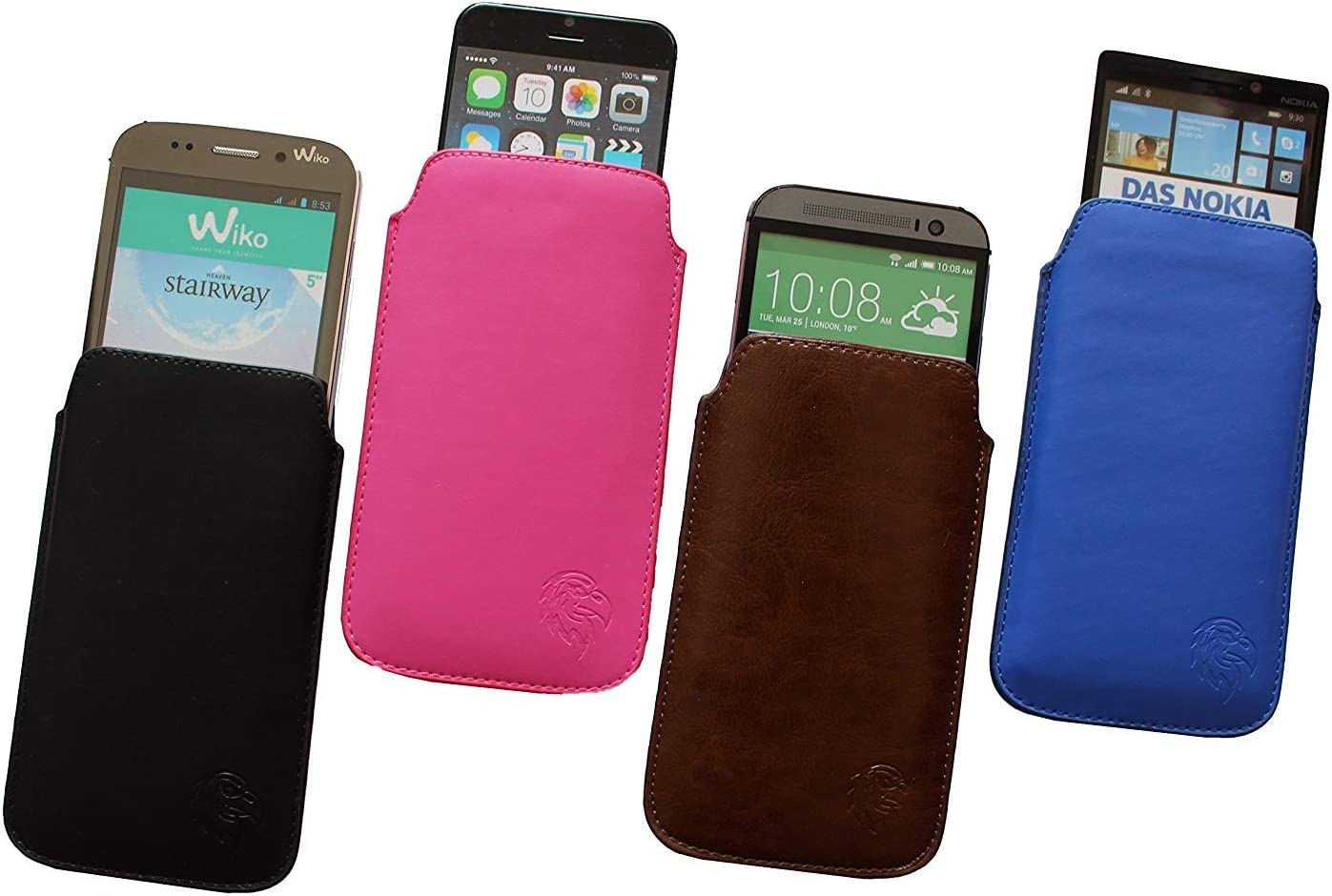 innen weiches Microfaser exklusiv Motiv LE Braun Handy-h/ülle herausziehbar Dealbude24 Schutz-Tasche f/ür Samsung Galaxy S7 Edge d/ünnes Etui gen/äht mit Rausziehband