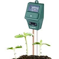 Kuman KP03 Bodemtester, 3-in-1 tuinaardetester, vochtmeter en pH-tester voor bodem, kit voor thuis, tuin, gazon…