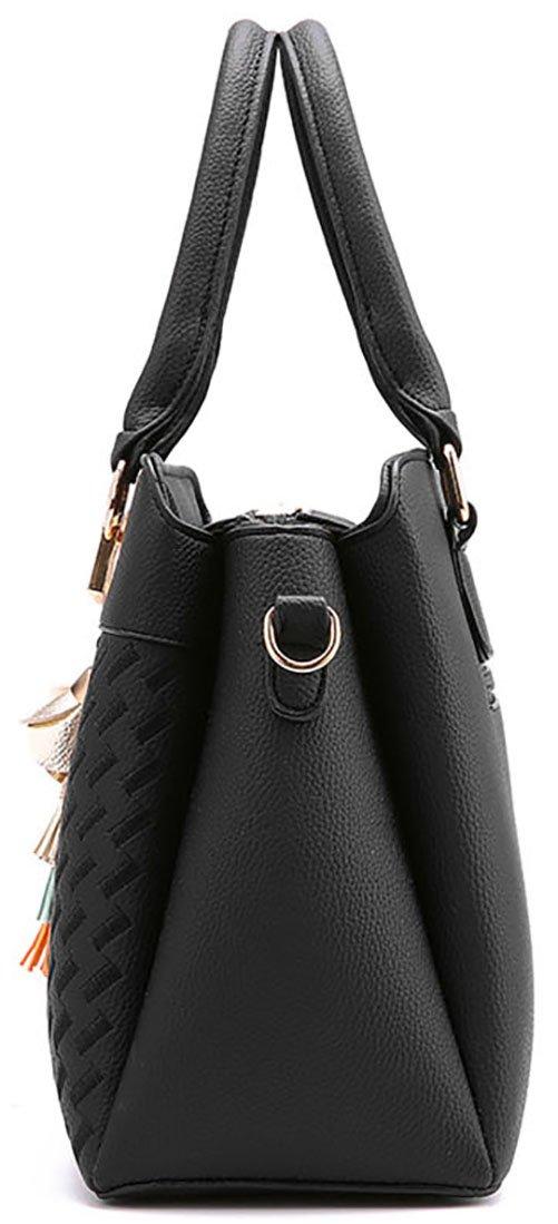 Damen Handtasche Damen Große Mode-Design Tragetaschen Damen Umhängetasche Top Griff Taschen(Rot)