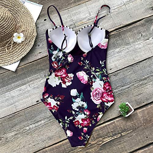 L Swimwear Up Bathing piece One Girl Stripe Shengyunpio 2019 Swimsuit New Push And Floral Beach Women Suits xwvZYYq4a