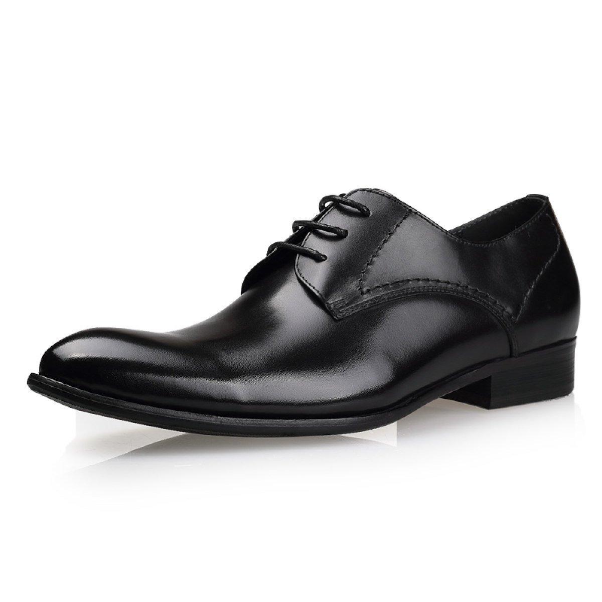 GRRONG Mauml;nner Mode-Business Kleid Schuhe Bequem Und Atmungsaktiv Hochzeit Schuhe  44|Black
