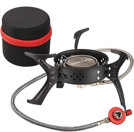 Fazitrip Estufa a Gas portátil al Aire Libre, con un diseño Resistente de Viento y con Encendido automático, Adecuado para Deportes al Aire Libre como ...