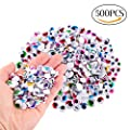 CCINEE 500 Pieces 6-12 mm Wiggle Eyes Multi Color Google Eyes with Self Adhesive Googly Eyes for Craft Making