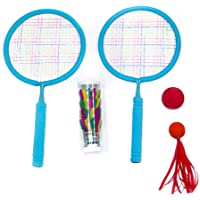 FOREVIVE Badminton for Kids Badminton Sets for Backyards Parent-Child Sports Exercise Set, 4 Badminton Birdie Indoor and…