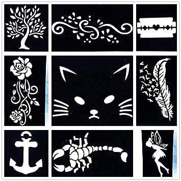 Tatuajes Temporales 9 Unidades/Lote Diy Lindo Gato Dibujo ...