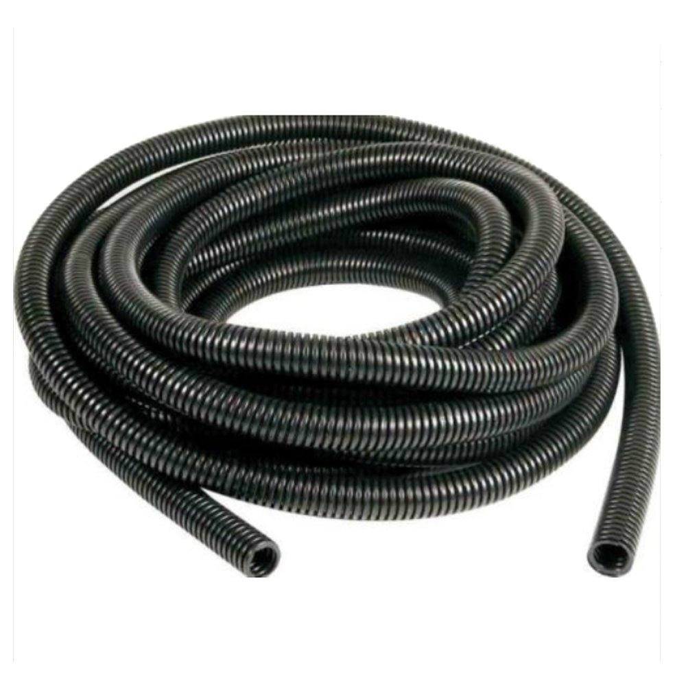 HOUTBY Black 25mm Width Split Loom Wire Flexible Tubing Conduit Hose Cover Car 3M Length
