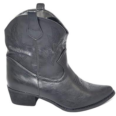 Malu Shoes Stivaletto Donna camperos Texani Neri con