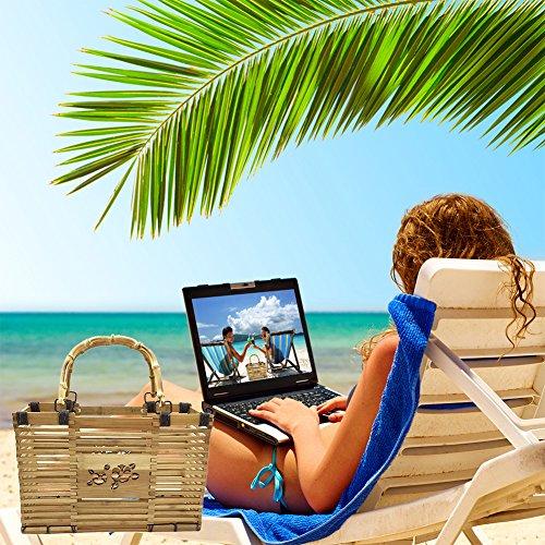 Spiaggia Bag Stile Mano Cheerfulus A Immagazzinaggio Tote Viaggio Donne Organizzatore Di Estate 3 Bambù 4AaxnqZ