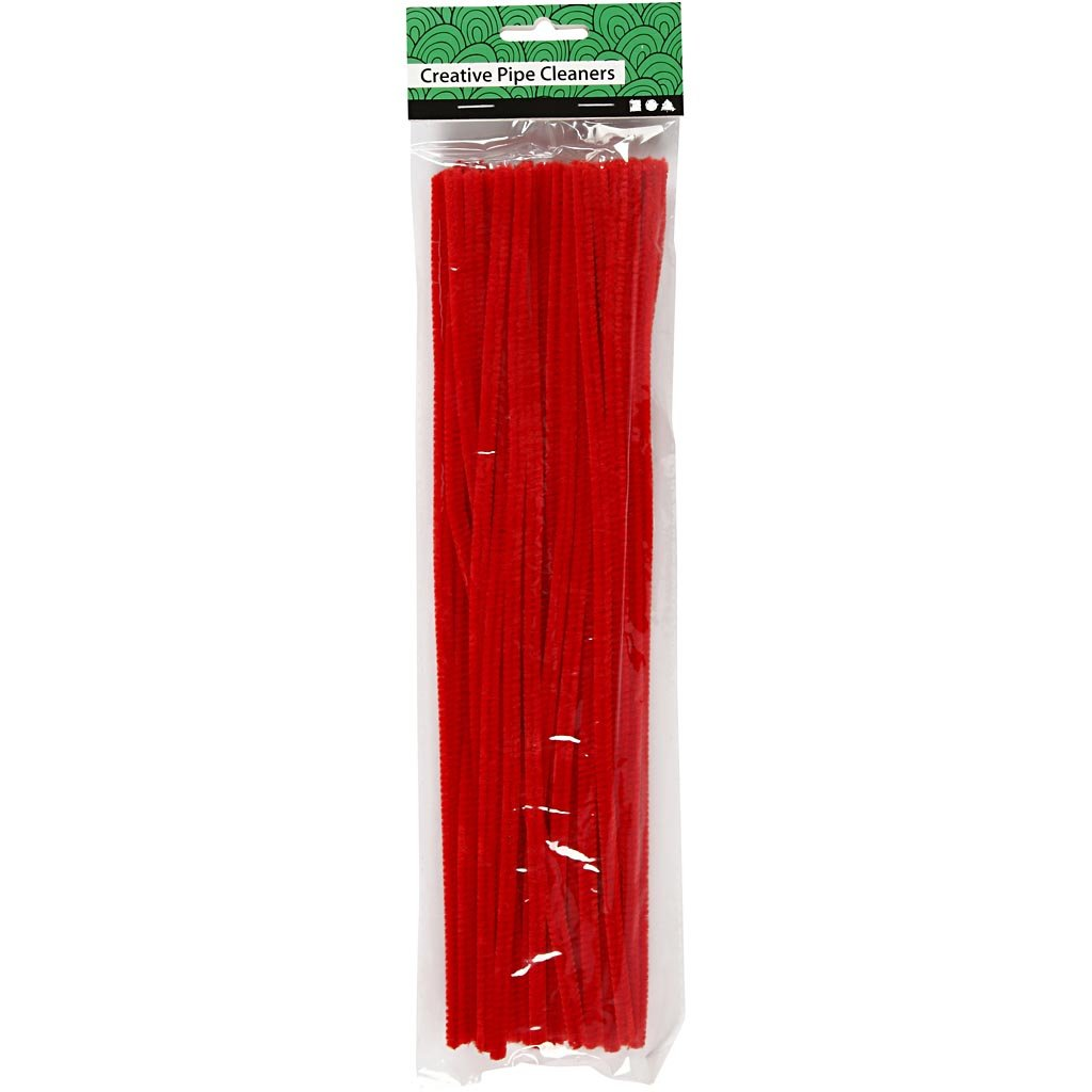black 50pcs L: 30 cm Pipe Cleaners thickness 6 mm