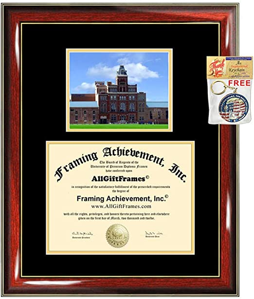 Amazon Com University Of Colorado Denver Diploma Frame Degree Frames Cu Denver College Campus Photo Graduation Gift Certificate Plaque Framing Double Mat Case