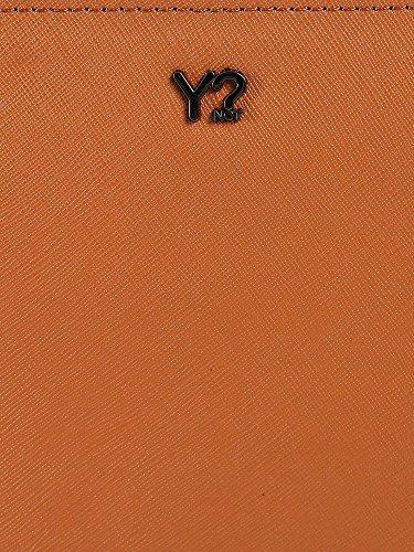 Y Not - Clutch in pelle con pochette e tracolla, Y Not - Cuoio - 713B.DARK TAN - Cuoio - UNICA
