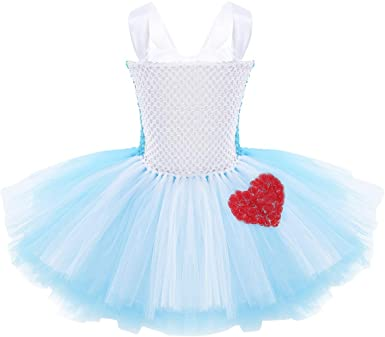 dPois Niña Vestido de Tutú Princesa Falda con Corazón Rojo de ...