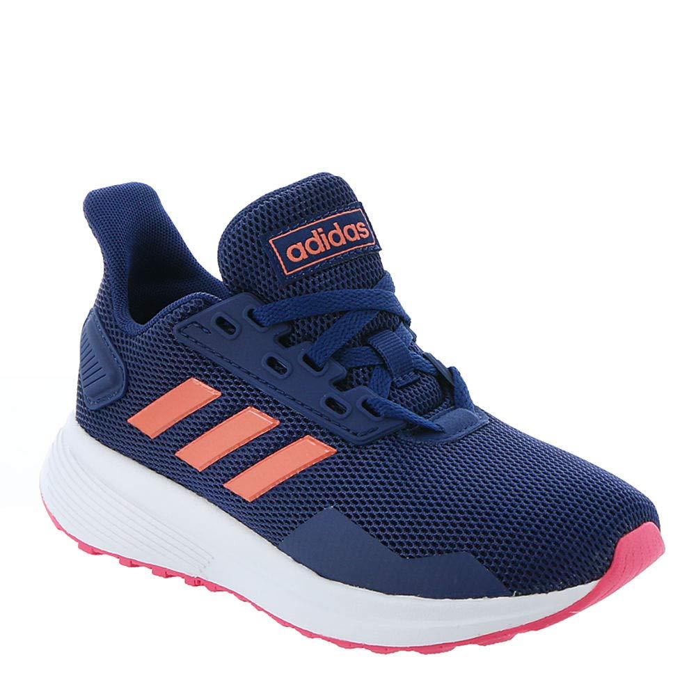 adidas Unisex Duramo 9 Running Shoe, Dark Blue/Semi Coral/Real Pink, 3.5 M US Big Kid