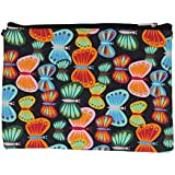Black Canvas Multi-Colored Butterfly Print Clutch/Cosmetic Bag