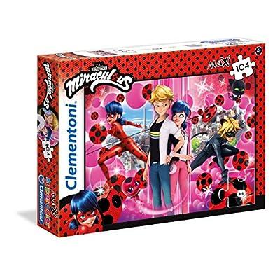 Clementoni Miraculuos Supercolor Puzzle Miraculous Ladybug 104 Maxi Pezzi Colori Assortiti 23712