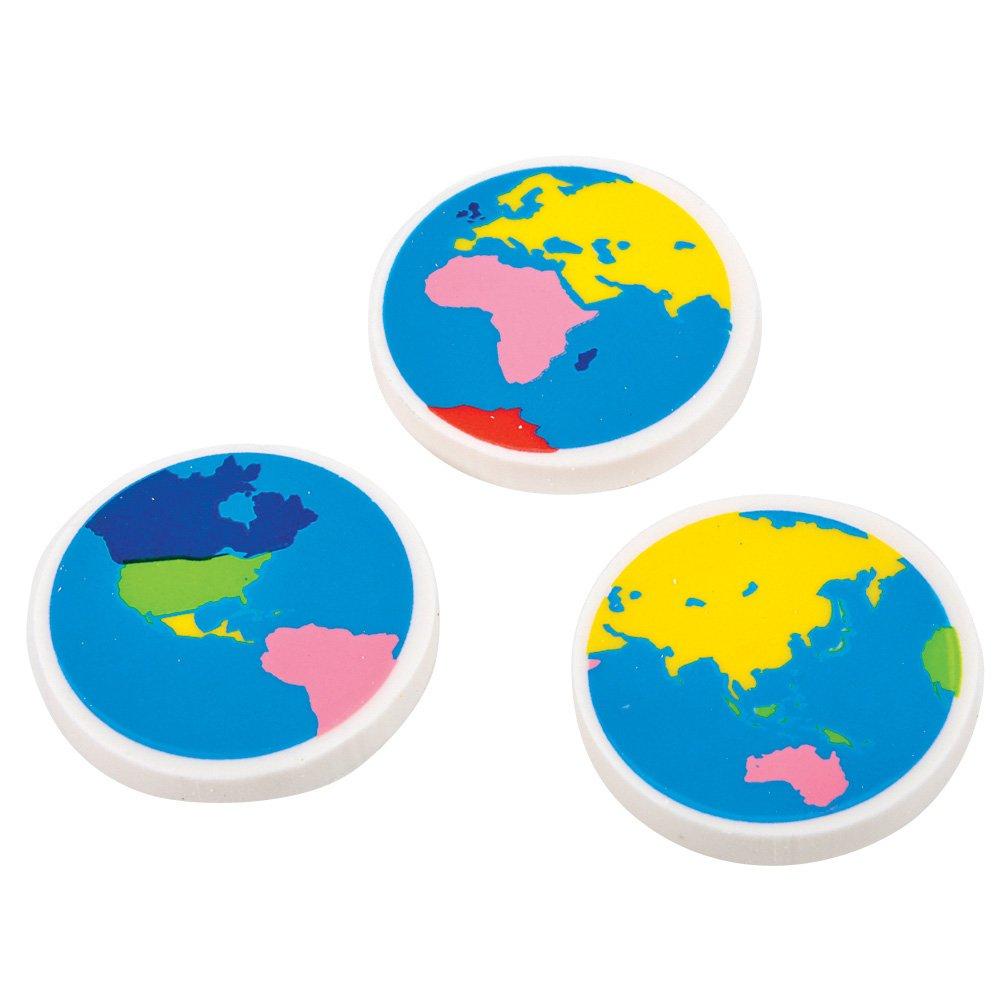 Globe Earth Erasers (4 dz) RI
