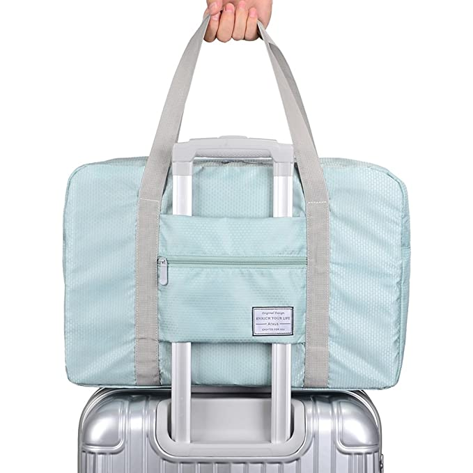 Arxus Travel Lightweight Waterproof Foldable Storage Carry Luggage Duffle  Tote Bag (Mint Green) 267d0b12d8