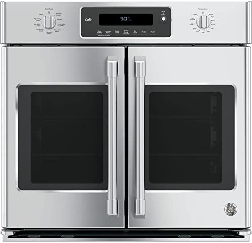 """GE Café CT9070SHSS 30"""" Single French Door Electric Wall Oven"""