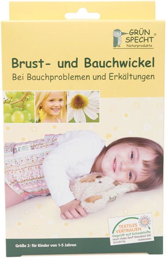 1-5 Jahre Gr/ünspecht 162-V1 Brust und Bauchwickel Gr/ö/ße 2