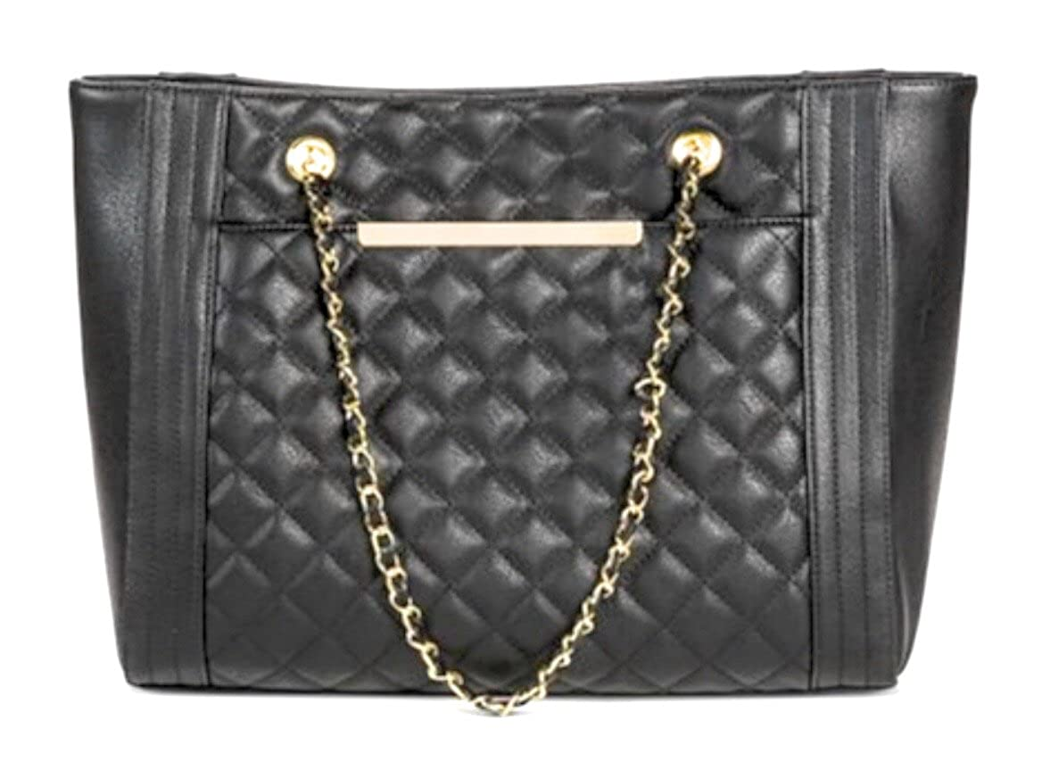 Mossimo Quilted Tote with Chain Strap Handbag-