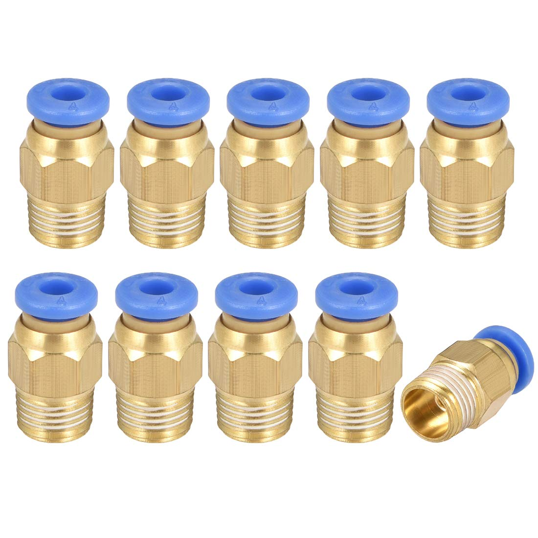 uxcell Straight Pneumatic Push to Quick Connect Fittings 1//8 G Male x 10mm Tube OD 10pcs