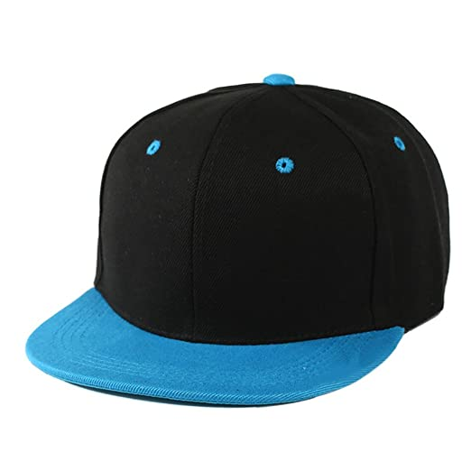 Altis Apparel Kid s Youth Flat Bill Snapback Hat - Hip Hop Baseball Cap  (Black  8330bb87bb0