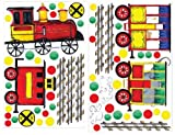 RoomMates RMK1391SLG All Aboard Peel & Stick Wall Decal MegaPack